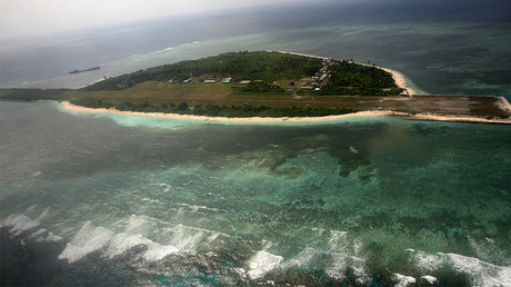 Thitu Island, part of the disputed Spratly group of islands, in the South China Sea © AFP
