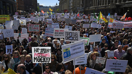 Protest against massive redevelopment project held in Moscow (PHOTOS, VIDEO)