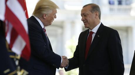 U.S President Donald Trump and Turkey's President Recep Tayyip Erdogan © Joshua Roberts