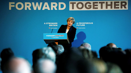 Britain's Prime Minister Theresa May's launches her election manifesto in Halifax, May 18, 2017 © Phil Noble