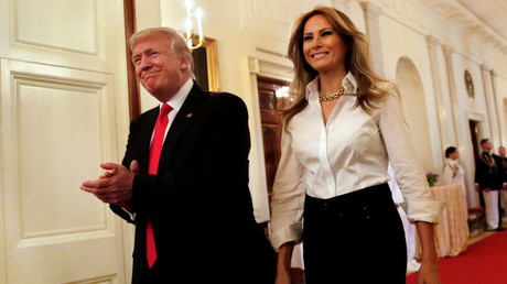 US President Donald Trump and first lady Melania Trump © Yuri Gripas