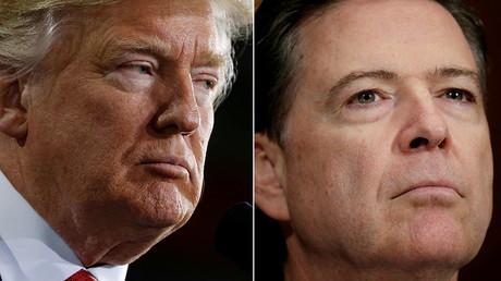 US President Donald Trump (L) and FBI Director James Comey © Reuters