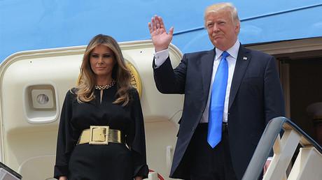 US President Donald Trump and First Lady Melania Trump, Riyadh May 20, 2017. © Mandel Ngan