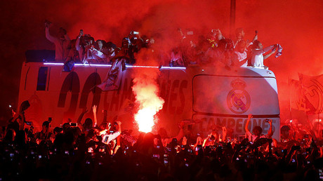 Thousands of fans celebrate Real Madrid's 1st Spanish title in 5 years