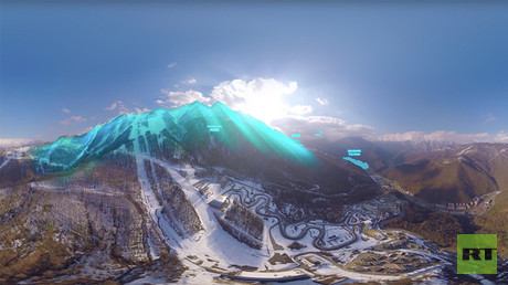 Hitting Sochi tube with panoramic camera