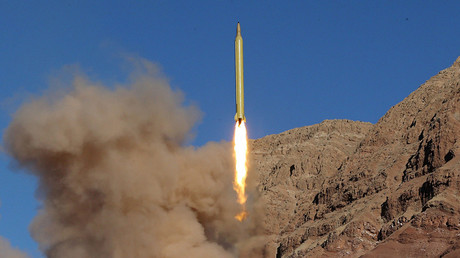 FILE PHOTO: A ballistic missile is launched and tested in an undisclosed location, Iran, March 9, 2016 © Mahmood Hosseini