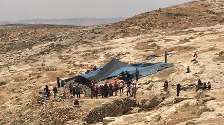 IDF removes anti-occupation encampment set up by activists in West Bank
