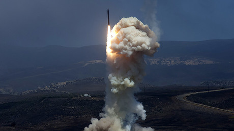 FILE PHOTO:  Flight Test 06b Ground-Based Interceptor launches from Vandenberg Air Force Base, Calif. © US Missile Defense Agency