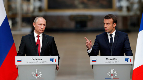 Putin & Macron talk to press following 1st meeting in Paris (WATCH LIVE)