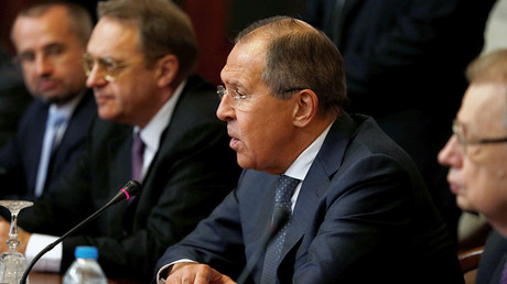 Russian Foreign Minister Sergey Lavrov speaks at a meeting during his visit in Cairo, Egypt May 29, 2017. © Amr Dalsh