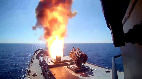 Russian frigate & submarine fire 4 cruise missiles at ISIS targets near Palmyra – MoD