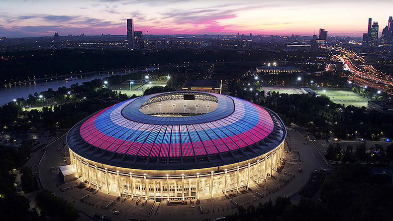 RT 'takes part in history' as iconic Moscow stadium shapes up for 2018 football World Cup (PHOTOS)