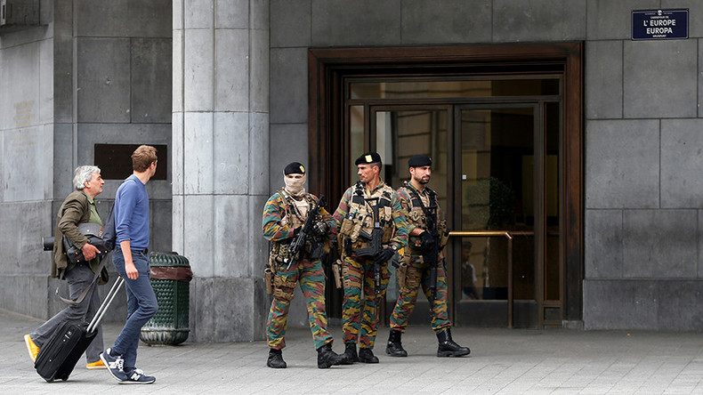 Soldiers 'neutralize' suspect wearing explosive belt outside Brussels Central Station (WATCH LIVE)