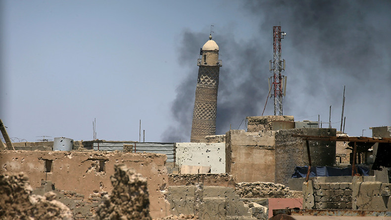 ISIS blows up landmark Grand al-Nuri mosque with leaning minaret in Mosul – Iraqi military