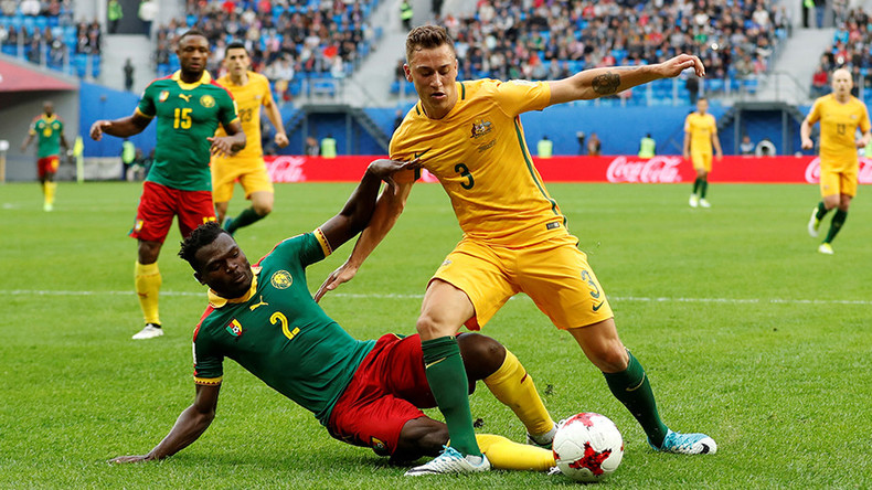 Cameroon 1-1 Australia: Honors even in Group B match in St. Petersburg