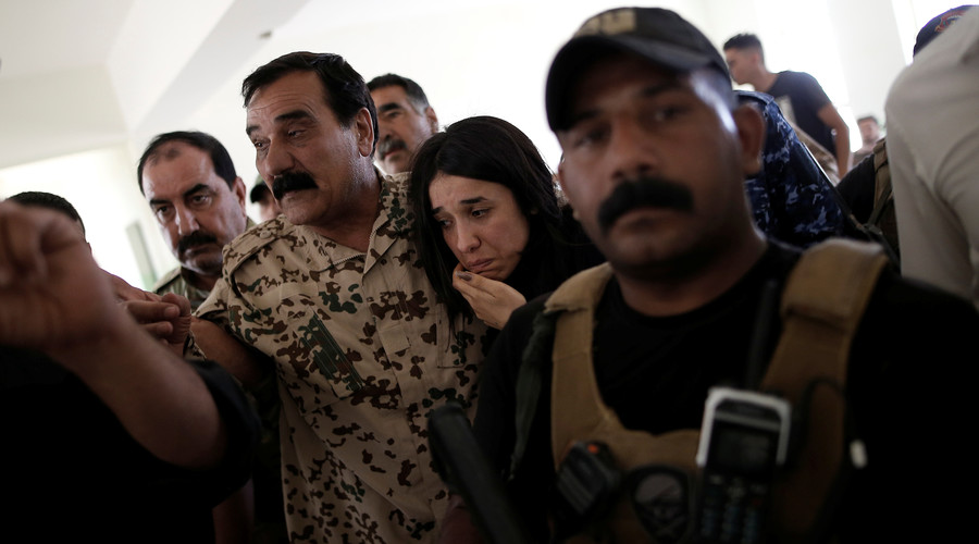 ISIS sex slave survivor demands recognition of Yazidi genocide in tearful homecoming