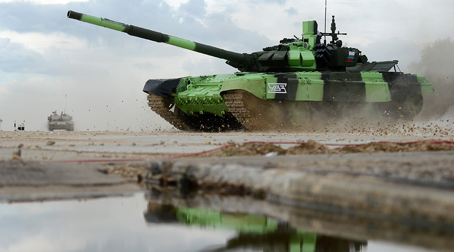 'Time for a face-off': Russian crews throw down gauntlet to NATO in tank challenge (VIDEO)
