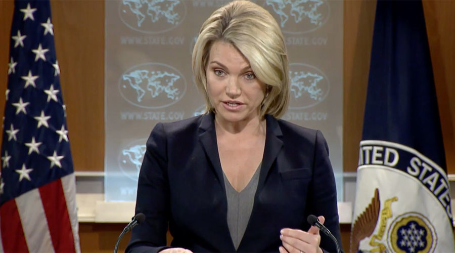 Former Fox News host struggles in first US State Dept press briefing (VIDEO)