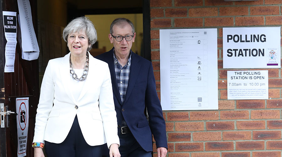 Final election poll puts May's Tories 12 points ahead of Corbyn's Labour