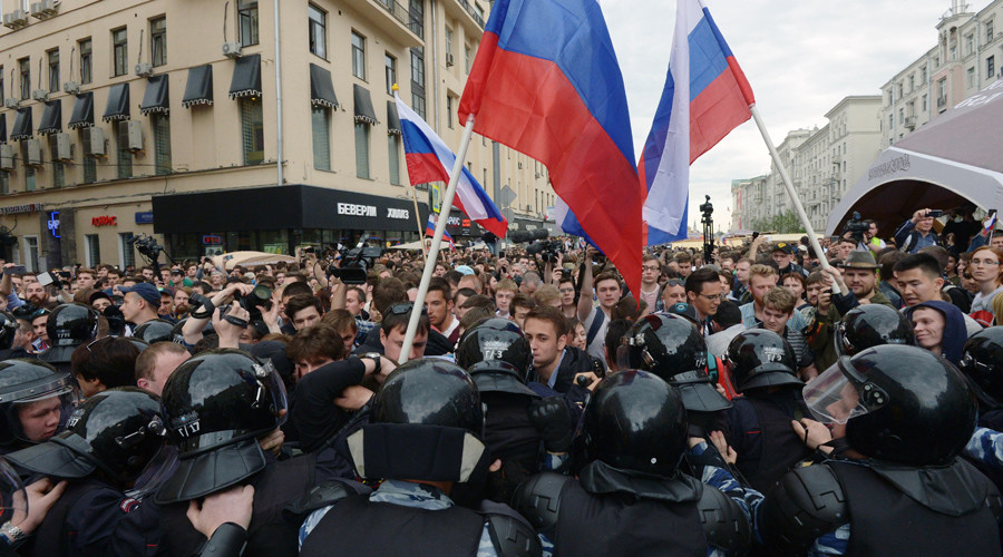 Protest rallies on Russia Day