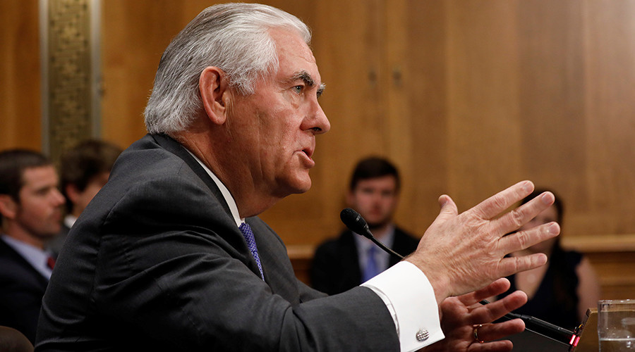 Tillerson takes heat from both sides at State Dept budget hearing in Senate