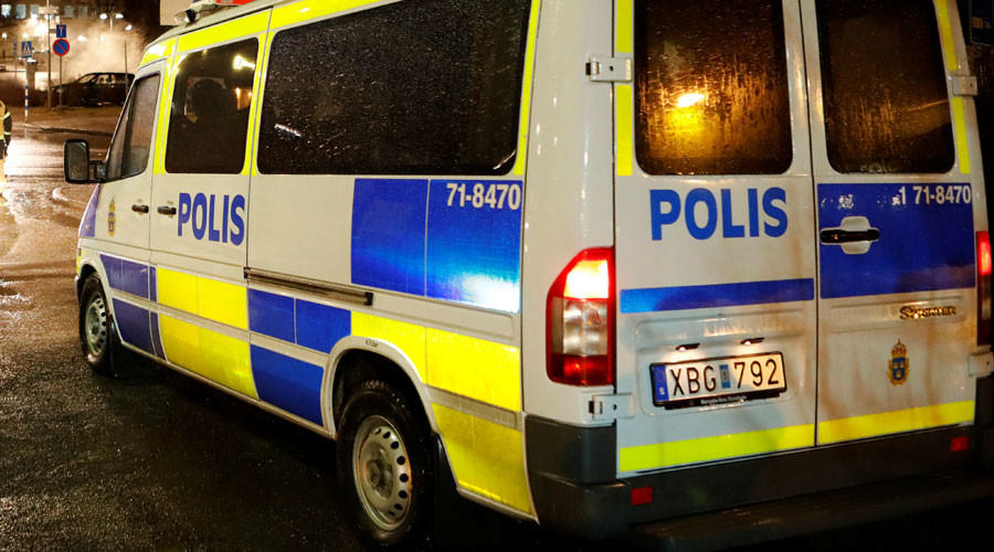 Man in car emblazoned with Nazi symbol plows into refugee demo in Sweden