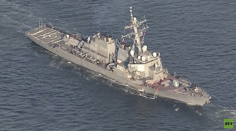 7 missing, at least 3 injured as US Navy destroyer crashes into trade ship off Japan coast