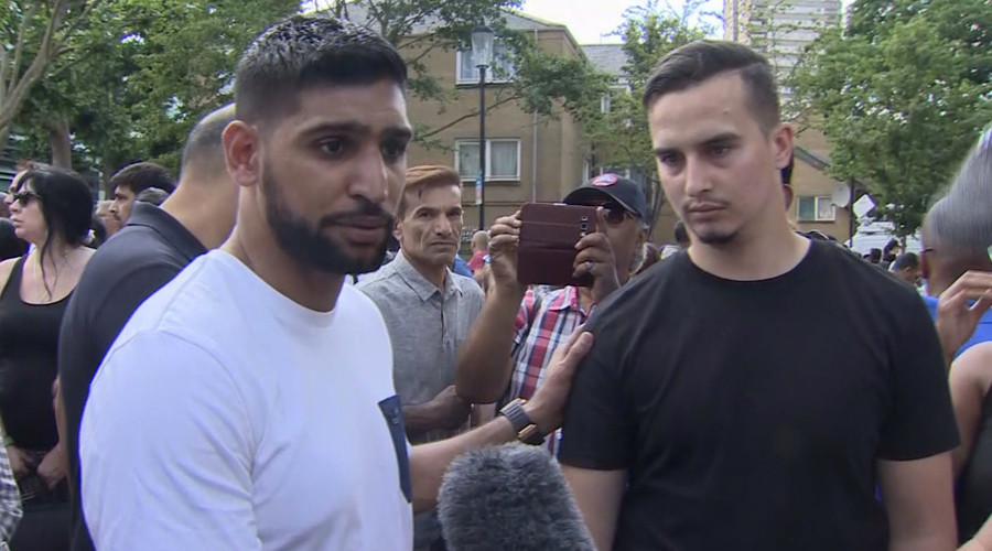 'People are angry, they want answers' in Grenfell Tower tragedy – boxer Amir Khan to RT