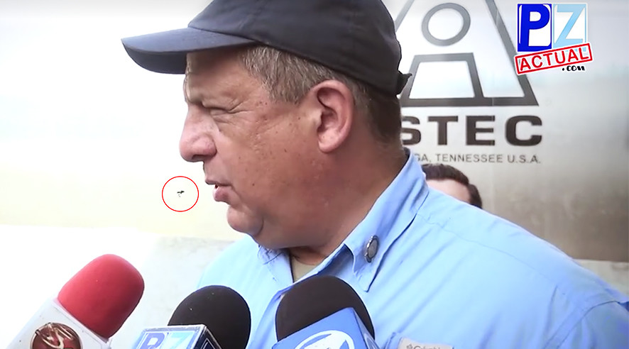 What a mouthful!: Costa Rican president accidentally eats wasp live on air during speech (VIDEO)