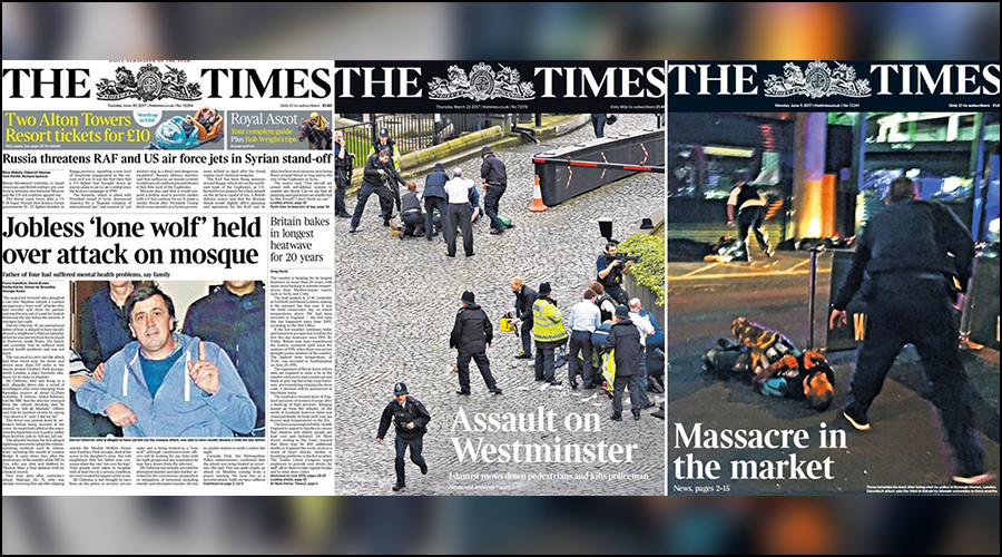 Times accused of 'playing down white extremism' in Finsbury attack coverage