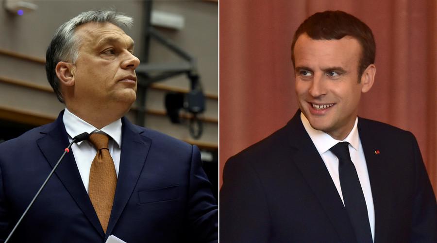 Orban & 'new boy' Macron engaged in verbal slugfest over EU policies