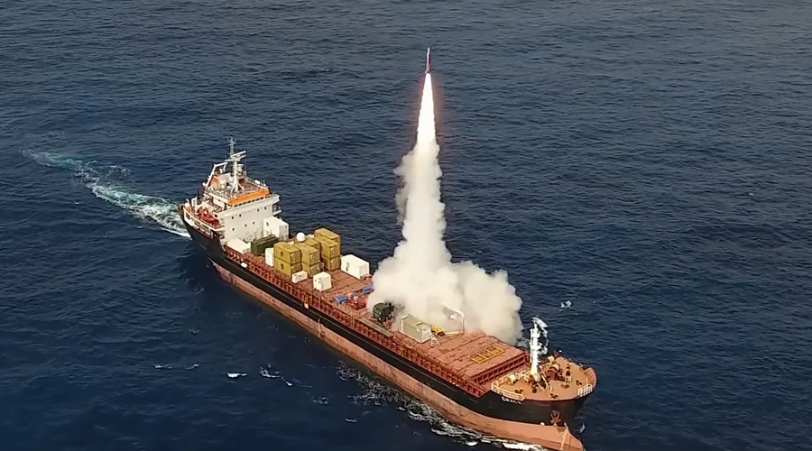 Long-range missile that can fit in shipping container test-fired at sea by Israeli contractor