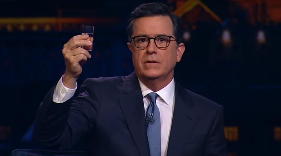 Stephen Colbert announces 2020 presidential bid on Russian TV after a few vodkas