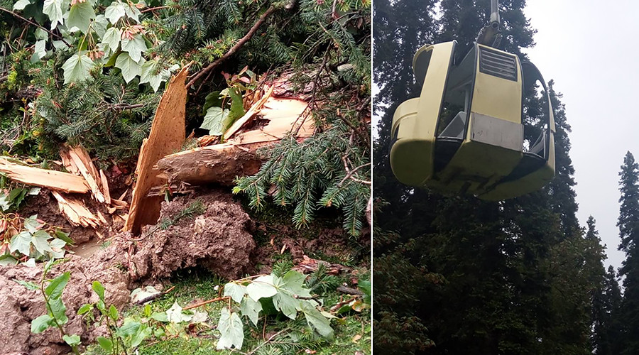 7 killed, 100 stranded in Kashmir as cable car with tourists falls (PHOTOS)