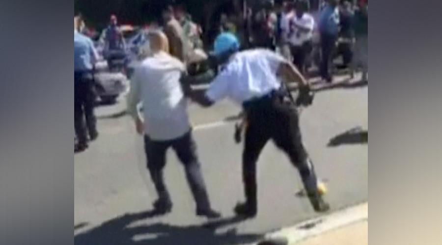 Germany bars Erdogan's bodyguards charged in US brawl from Hamburg G20 summit – report