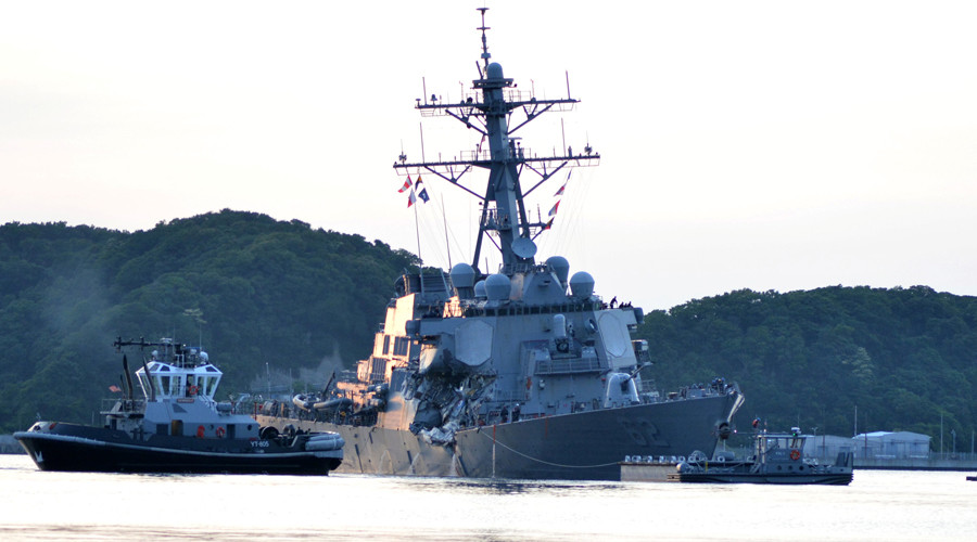 US destroyer failed to respond to warnings before fatal collision – cargo ship captain