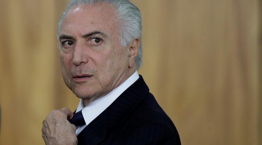 Brazilian President Temer charged with multi-million-dollar bribery