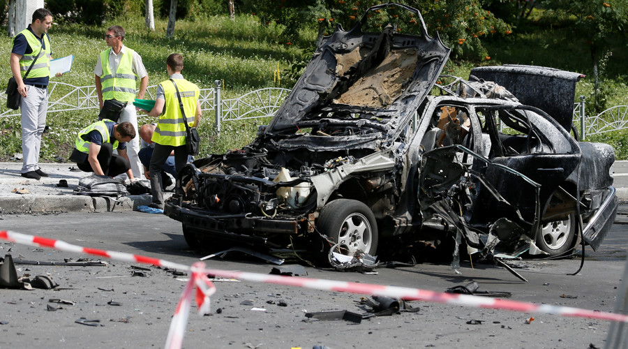 Ukrainian military intelligence colonel killed in car explosion in Kiev