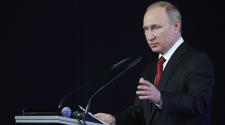 Putin: Foreign intel services support terrorist groups on Russia's borders