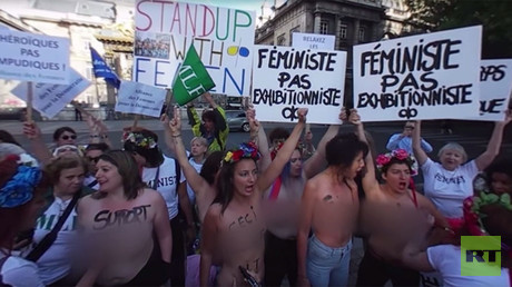 'Not exhibitionists': FEMEN protest hits Paris in support of on-trial activists (360 video)