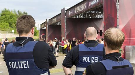 Policemen at Rock am Ring Festival June 2, 2017. © Global Look Press