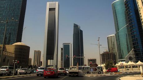 Skyscrapers in the Qatari capital Doha. ©Patrick Baz