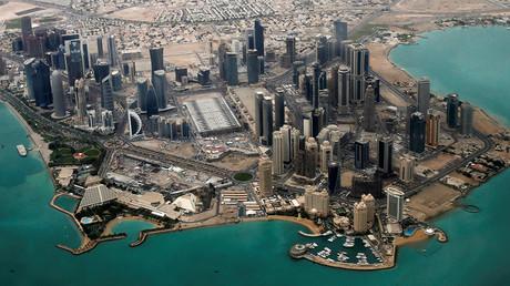 An aerial view of Doha, Qatar © Fadi Al-Assaad