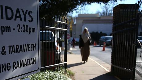 An entrance to the Dar Al-Hijrah Mosque, Virginia. © Mark Wilson