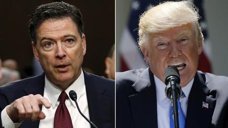 Former FBI Director James Comey (L), US President Donald Trump (R) © Reuters