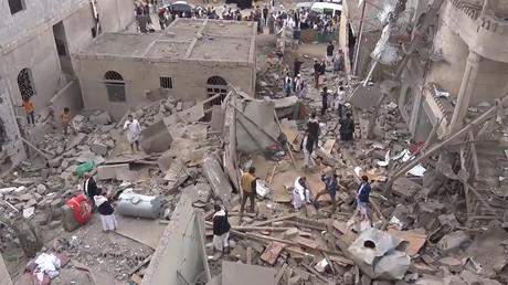 3 children, grandmother killed in Saudi coalition strike on Yemeni capital (VIDEO)