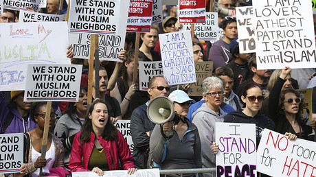 US 'anti-Sharia' marches & counter protests