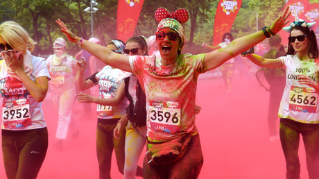 Moscow Color Run: More than 7,000 rehearse marathon