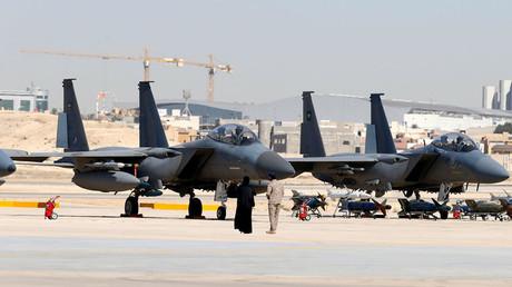 F-15SA fighter jets are seen at King Faisal Air College in Riyadh, Saudi Arabia © Faisal Al Nasser
