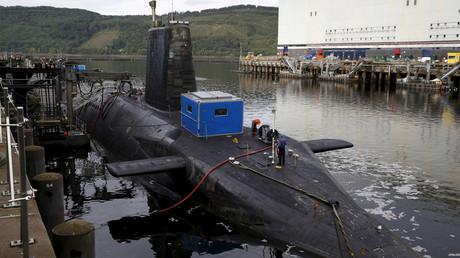 A nuclear submarine at the Royal Navy's submarine base at Faslane, Scotland © Russell Cheyne